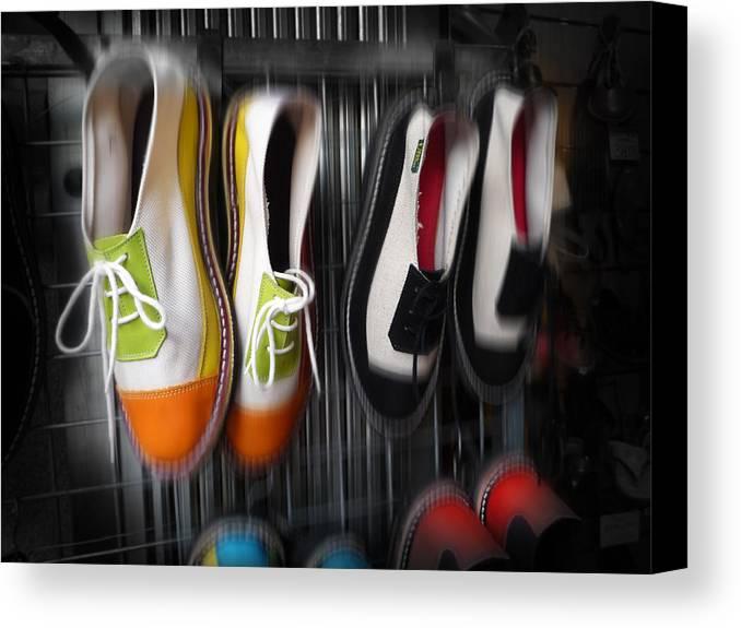Art Canvas Print featuring the digital art Art Shoes by Charles Stuart