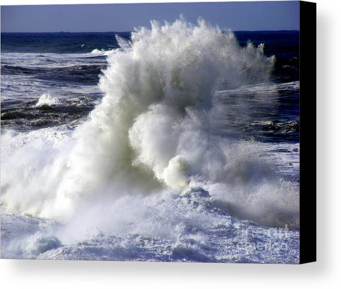 Ocean Canvas Print featuring the photograph Backsplash by Coastal Shooter Photography by Kathy Scott