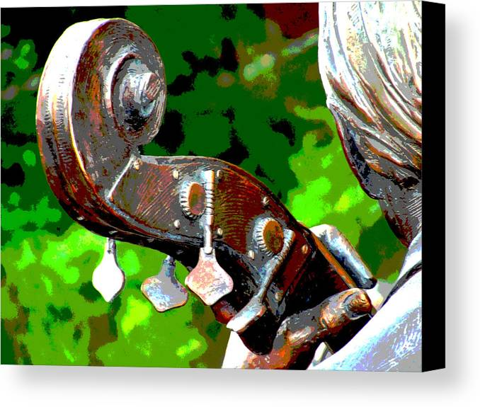 Music Canvas Print featuring the photograph Bass Fiddle by Charlie and Norma Brock