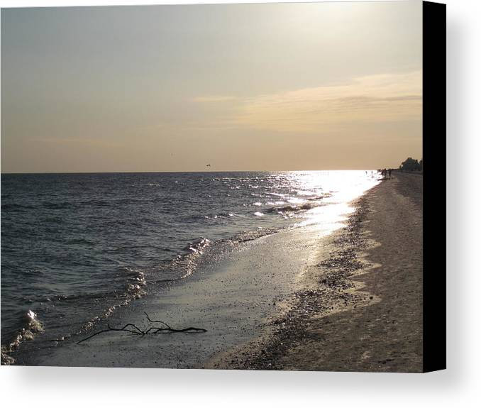 Sanibel Canvas Print featuring the photograph Beach At Dusk by S K