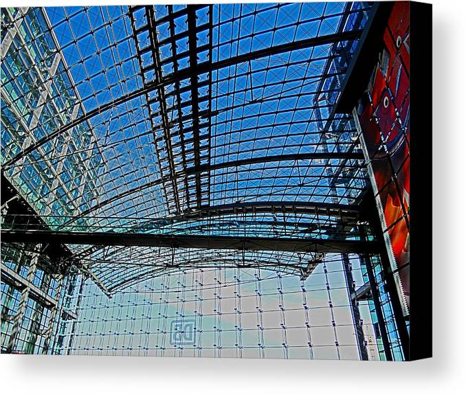 Europe Canvas Print featuring the photograph Berlin Central Station ... by Juergen Weiss