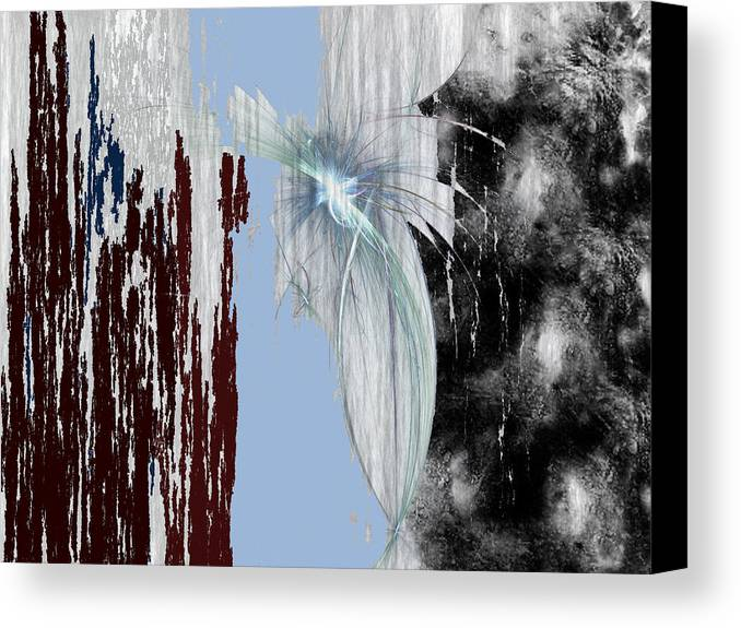 Abstract Canvas Print featuring the digital art Blue Sky by Maciek Froncisz