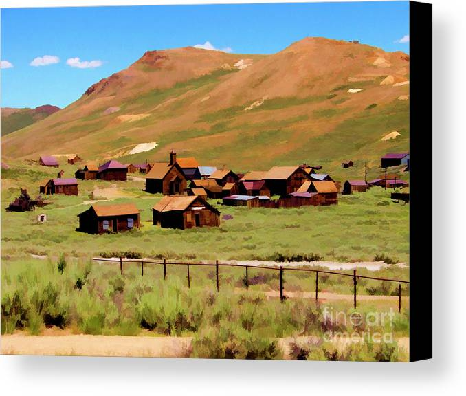California Canvas Print featuring the photograph Bodie Paint Photo by Chuck Kuhn