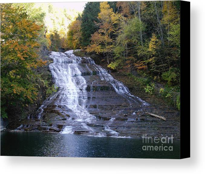 Nature Canvas Print featuring the photograph Buttermilk State Park Falls by John From CNY