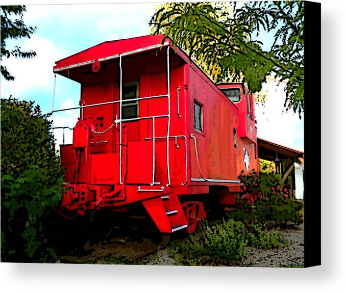 Patricia Canvas Print featuring the digital art Caboose by Patricia Erwin