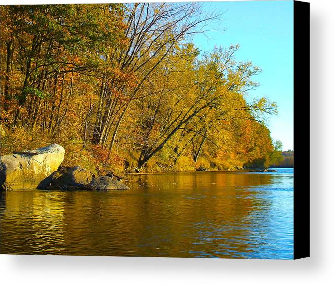 Landscape Canvas Print featuring the photograph Canoe Outing 15 by George Ramos