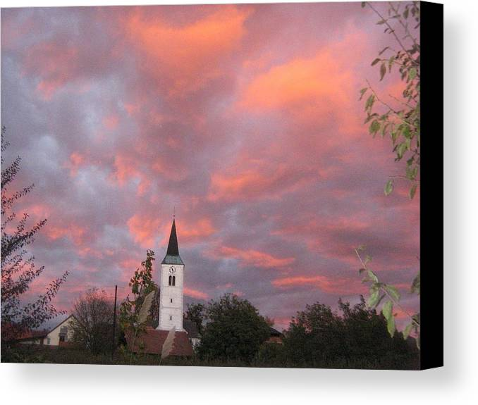 Canvas Print featuring the photograph Church by Casper WithLove