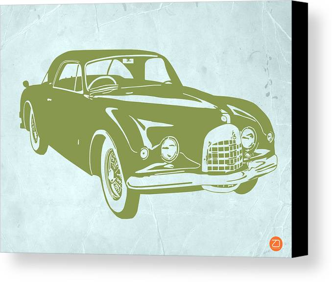 Canvas Print featuring the drawing Classic Car by Naxart Studio