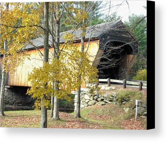 Nh Canvas Print featuring the photograph Corbin Covered Bridge by Wayne Toutaint