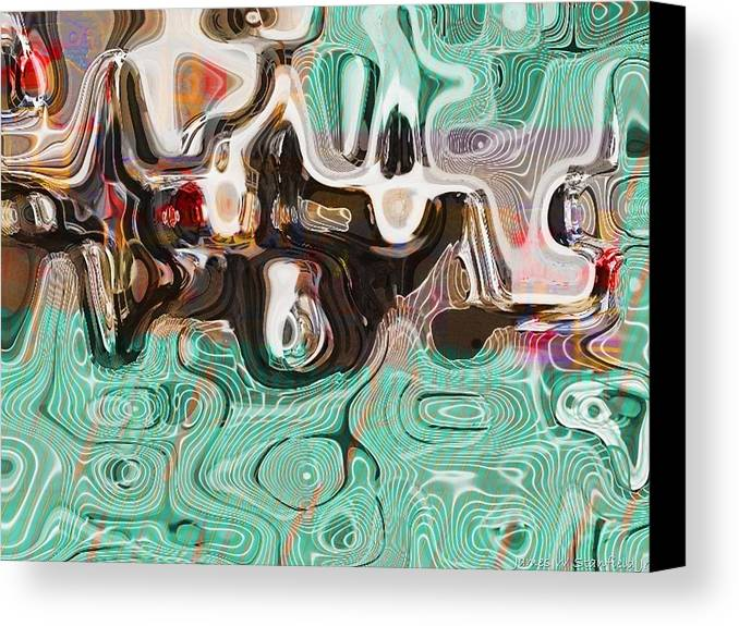 Abstract Canvas Print featuring the painting Creta Cafe Abstract 2 by James Stanfield