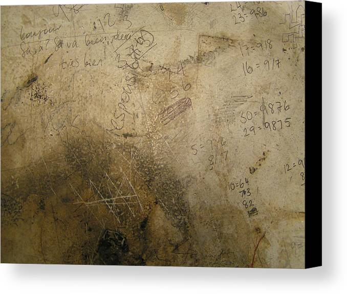 Surfaces Canvas Print featuring the photograph Damaged Surface Iv by Sarah Kemp