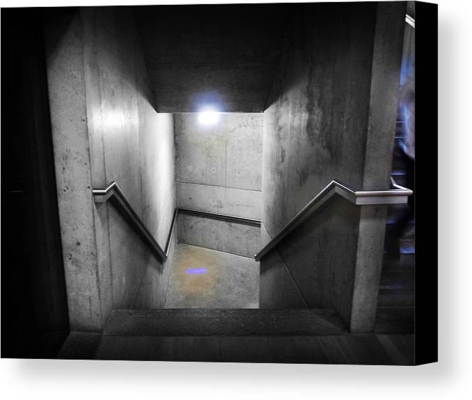 Stairs Canvas Print featuring the photograph Down by Charles Stuart