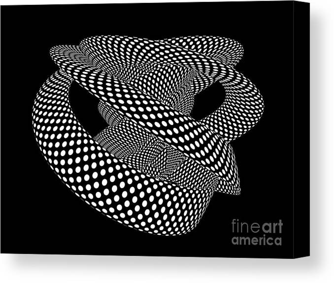 Spots Canvas Print featuring the digital art Dynamic Overlay by Steve Young