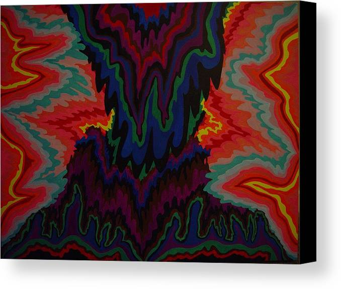 Abstract Canvas Print featuring the painting Earth Wind And Fire by Mae Hermansen