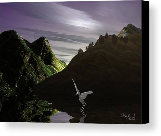 Nature Canvas Print featuring the digital art Eve Descending by Christopher Lynch