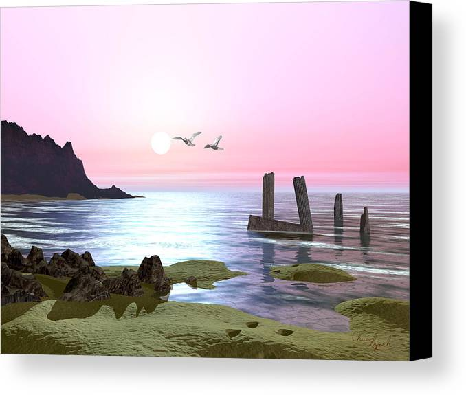 Nature Canvas Print featuring the photograph Even Tide by Christopher Lynch