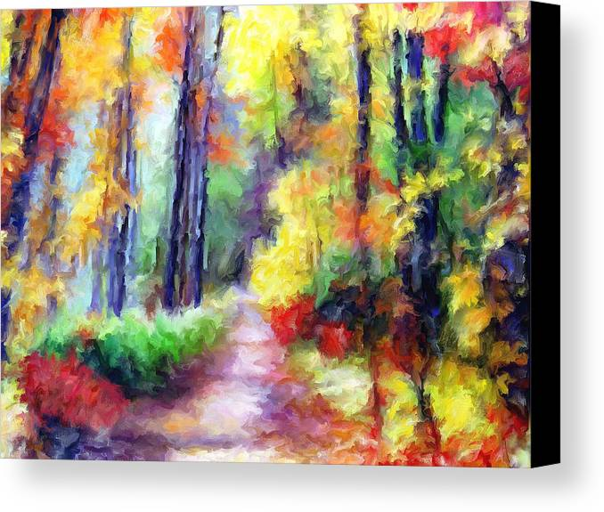 Fall Canvas Print featuring the mixed media Fall Melody by Marilyn Sholin