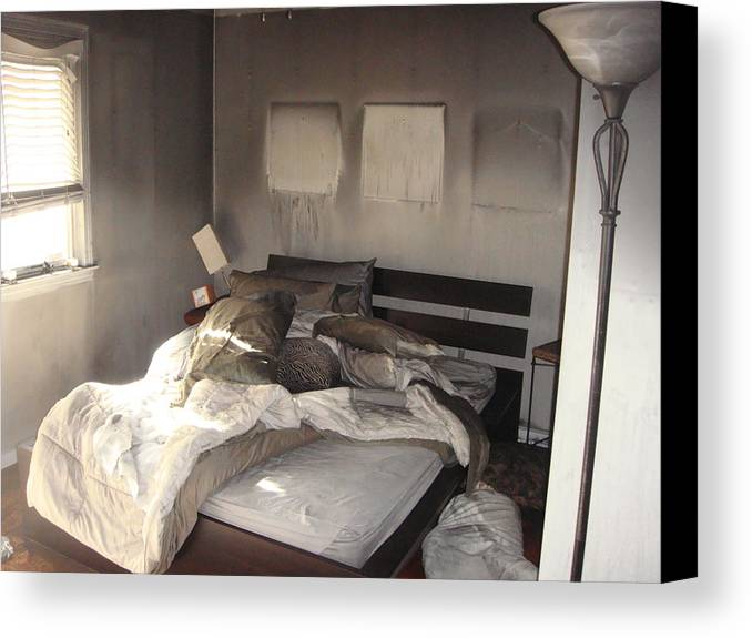 Canvas Print featuring the photograph Fire In The Bed by Matthew Slowik
