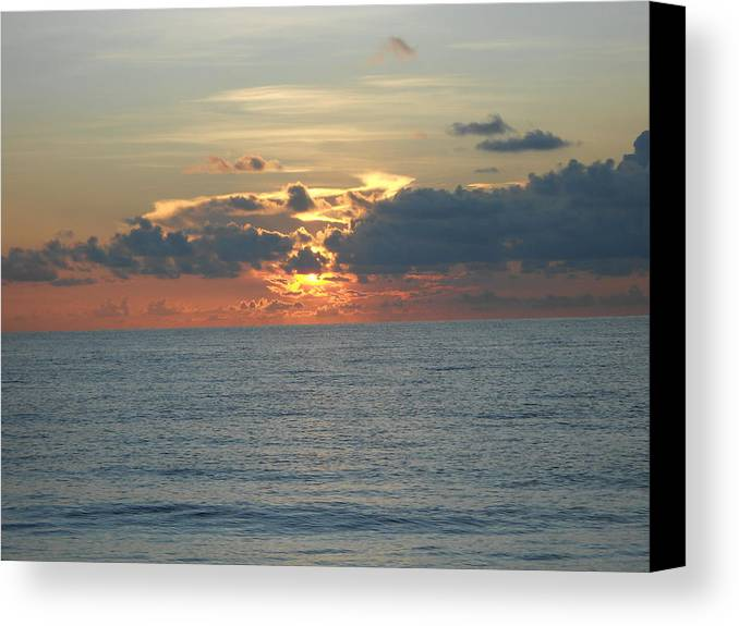 Sunrise Canvas Print featuring the photograph First Light by Sheila Silverstein
