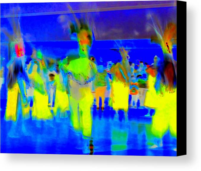 Ballet Folklorico Canvas Print featuring the digital art Folklorico 2 by Randall Weidner