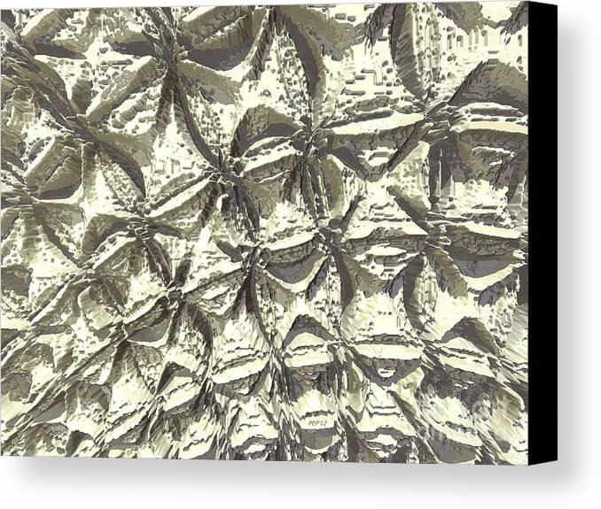 Digital Art Canvas Print featuring the digital art Fractal Wall by Phil Perkins
