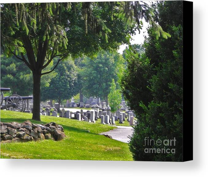 Gettysburg Canvas Print featuring the photograph Gettysburg Cemetary by Snapshot Studio