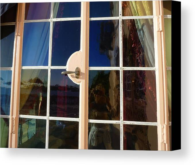 Window Canvas Print featuring the photograph Glass Hues by Florene Welebny