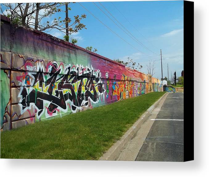 Graffiti Canvas Print featuring the photograph Graffiti Lane by Anne Cameron Cutri