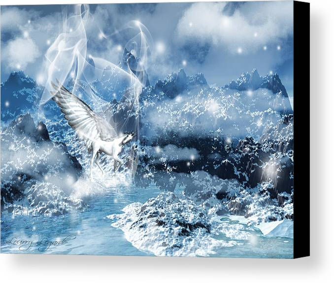 Unicorn Canvas Print featuring the photograph Heavenly Interlude by Lourry Legarde
