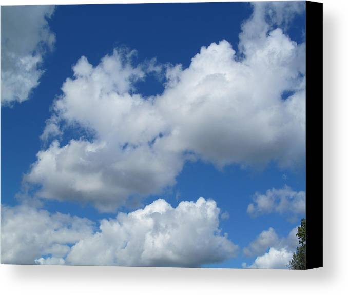 Clouds Canvas Print featuring the photograph High Clouds by Tina M Wenger