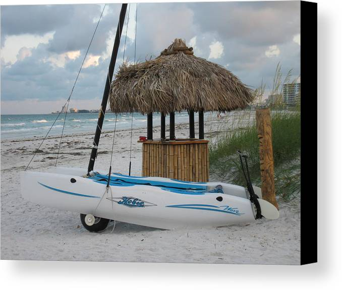 Hobie Canvas Print featuring the photograph Hobie Cat On Siesta by Tiffney Heaning