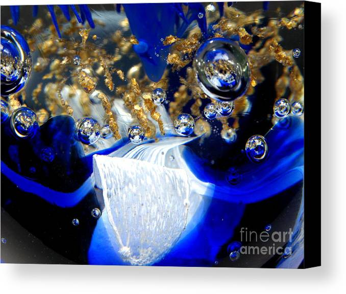 World Canvas Print featuring the photograph Inside The Crystal 1 by John Chatterley