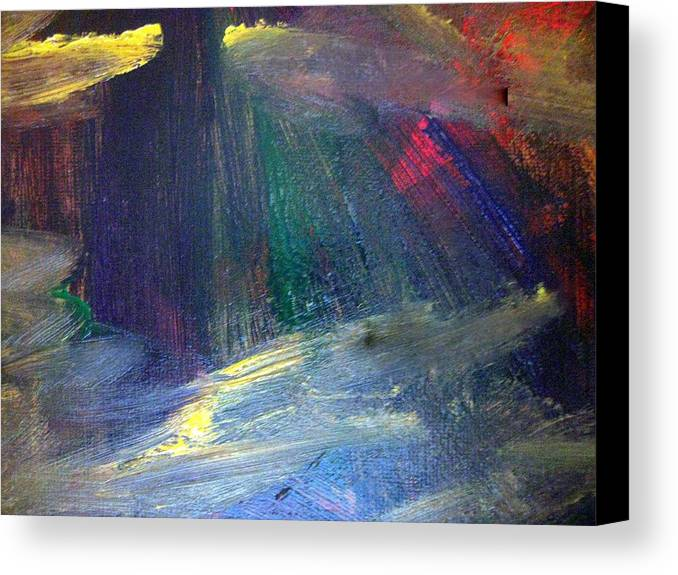 Lies Canvas Print featuring the painting Irresolute Arousal by Paula Andrea Pyle