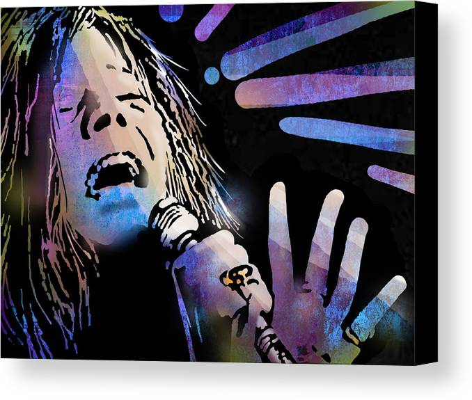 Blues Canvas Print featuring the painting Janis by Paul Sachtleben