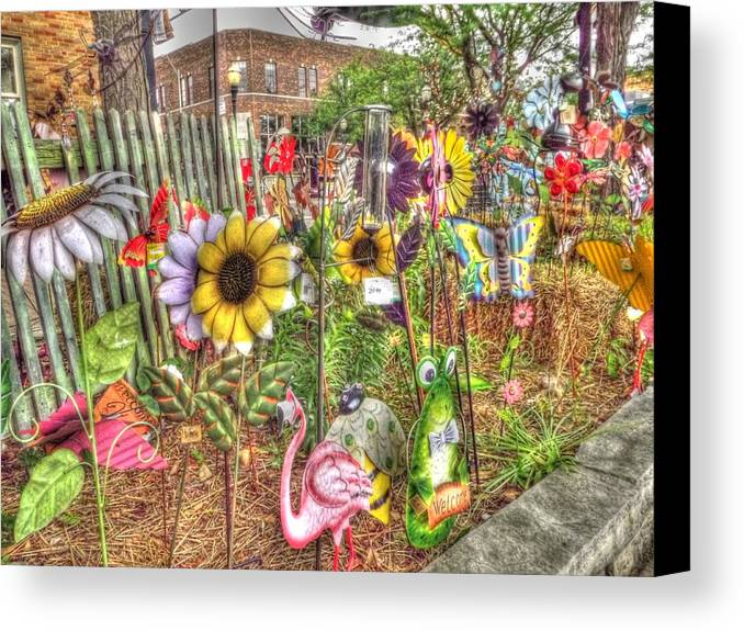 Canvas Print featuring the photograph Kansas Flower Market Usa by David Fussell