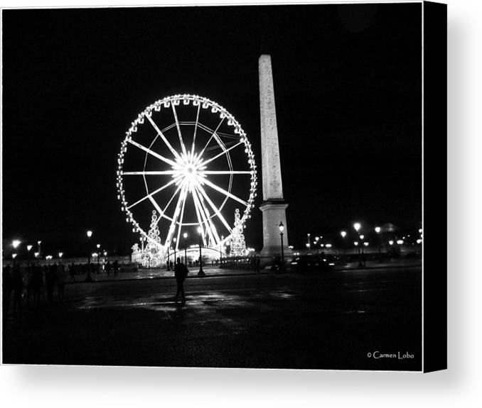 Paris Canvas Print featuring the photograph Le Mouvement Perpetuel by Carmen Lobo