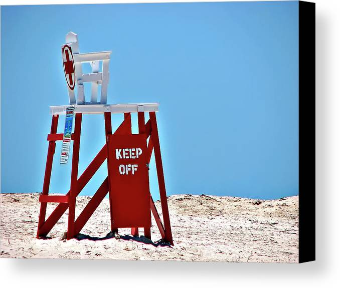 Lifeguard Canvas Print featuring the photograph Life Guard Stand by Carolyn Marshall