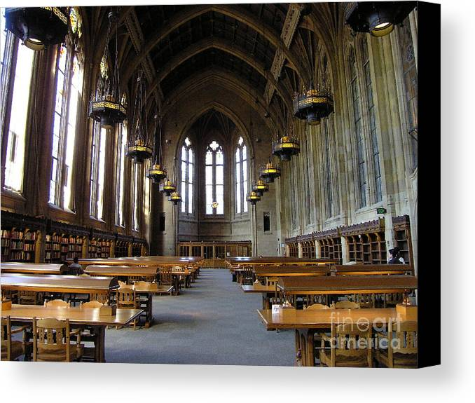 Library Canvas Print featuring the photograph Magic Library by Silvie Kendall