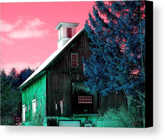 Barns Canvas Print featuring the photograph Maine Barn by Marie Jamieson