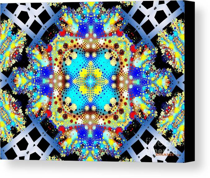 Colorful Canvas Print featuring the digital art Mardi Gras Drain by Bobby Hammerstone
