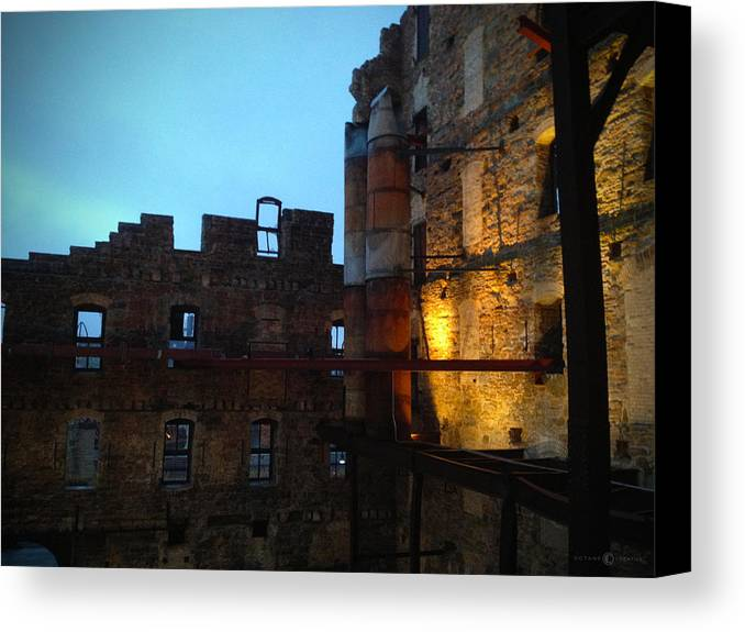 Mill Canvas Print featuring the photograph Mill Ruins by Tim Nyberg