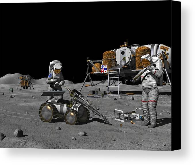 Equipment Canvas Print featuring the photograph Moon Exploration, Artwork by Walter Myers