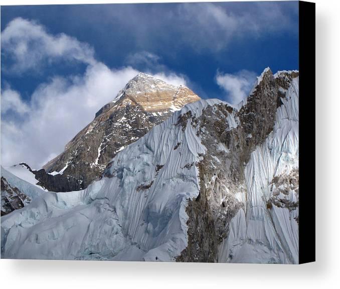 Horizontal Canvas Print featuring the photograph Mount Everest-kala Patar-everest Base Camp Trek-ne by Copyright Michael Mellinger