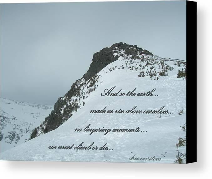 Mountain Canvas Print featuring the photograph Mount Washington Climb by Steven Thompson
