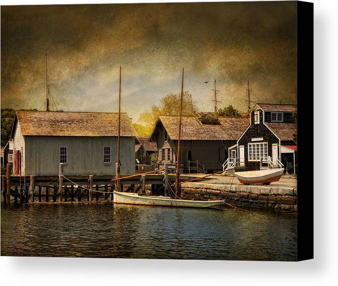 Boats Canvas Print featuring the photograph Mystic Sun by Robin-Lee Vieira