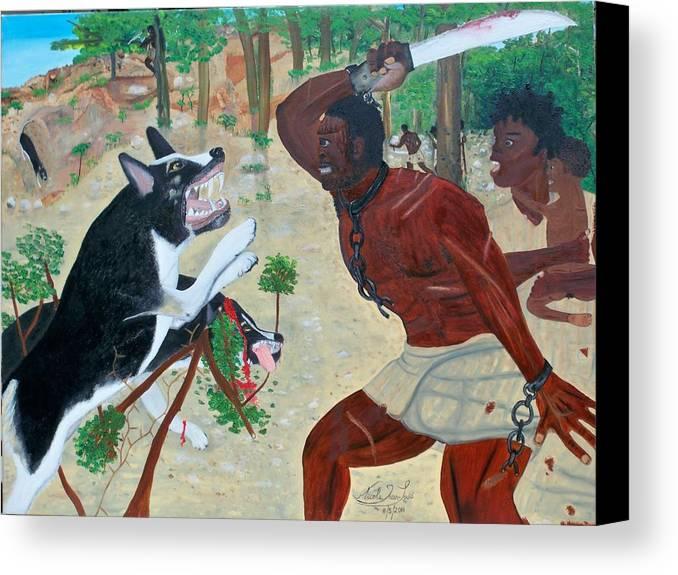 Nicole Jean-louis-neg Mawon Haiti 1791 Canvas Print featuring the painting Neg Mawon Haiti 1791 by Nicole Jean-Louis