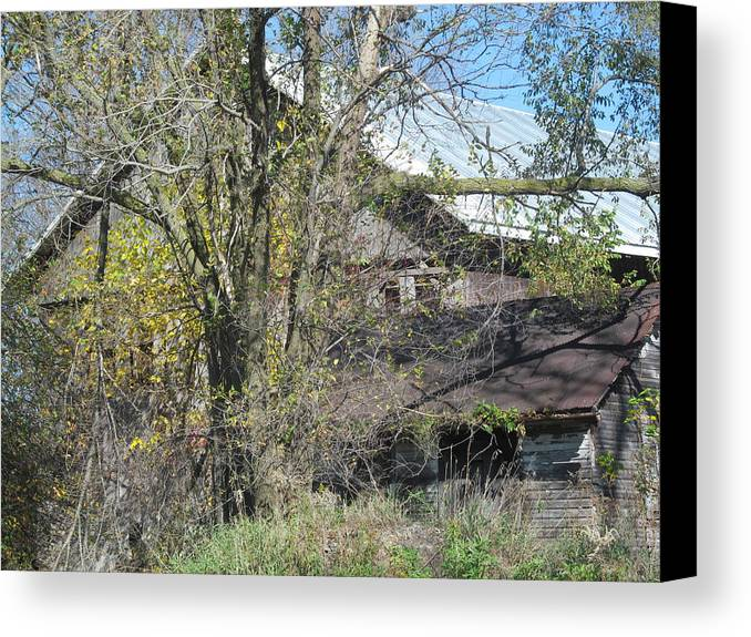 Farm Canvas Print featuring the photograph Neglected Farm Property Three by Tina M Wenger