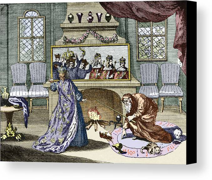 Queen Catherine Canvas Print featuring the photograph Nostradamus's Magic Mirror by Sheila Terry