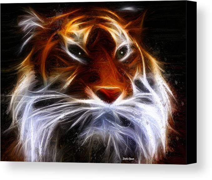 Lion Canvas Print featuring the mixed media Old King by Stephen Younts