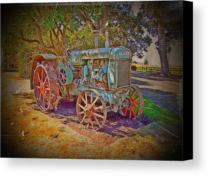 Oliver Tractor Canvas Print featuring the photograph Oliver Tractor 2 by Nick Kloepping